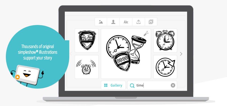 Users have access to thousands of original illustrations, but can also upload their own images, logos or text