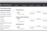 Netskope Active Platform screenshot: Netskope - Cloud confidence rating