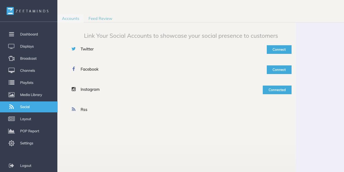 Social media integration, # feeds and RSS