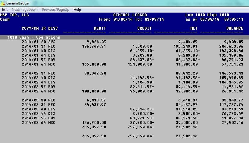 Plus & Minus Software - General ledger