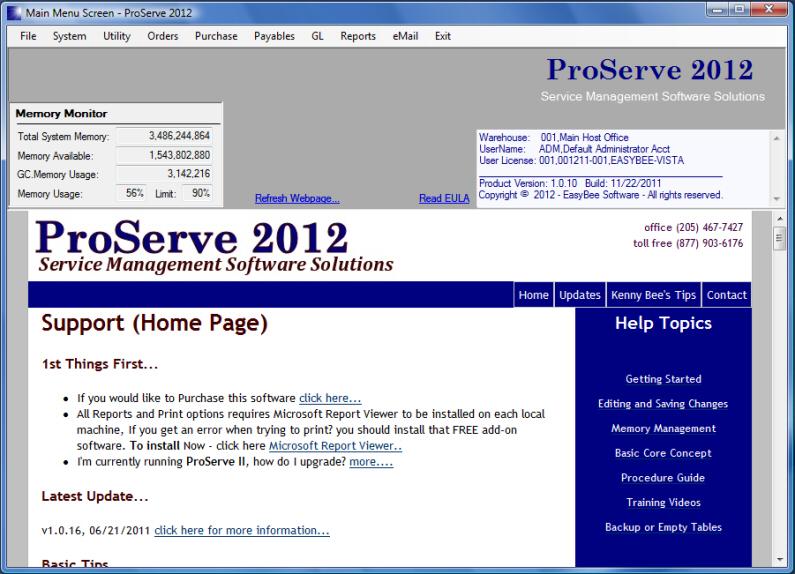 ProServe 2012 Software - 1