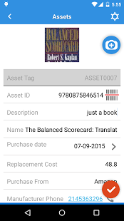 See asset summary on mobile app