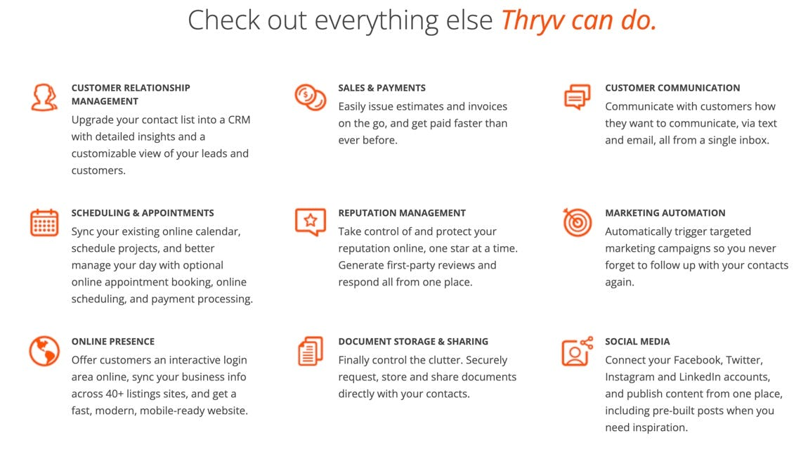 Thryv Software - Thryv is a secure, easy to use small business management platform that automates tasks and puts your customers at the center of your business