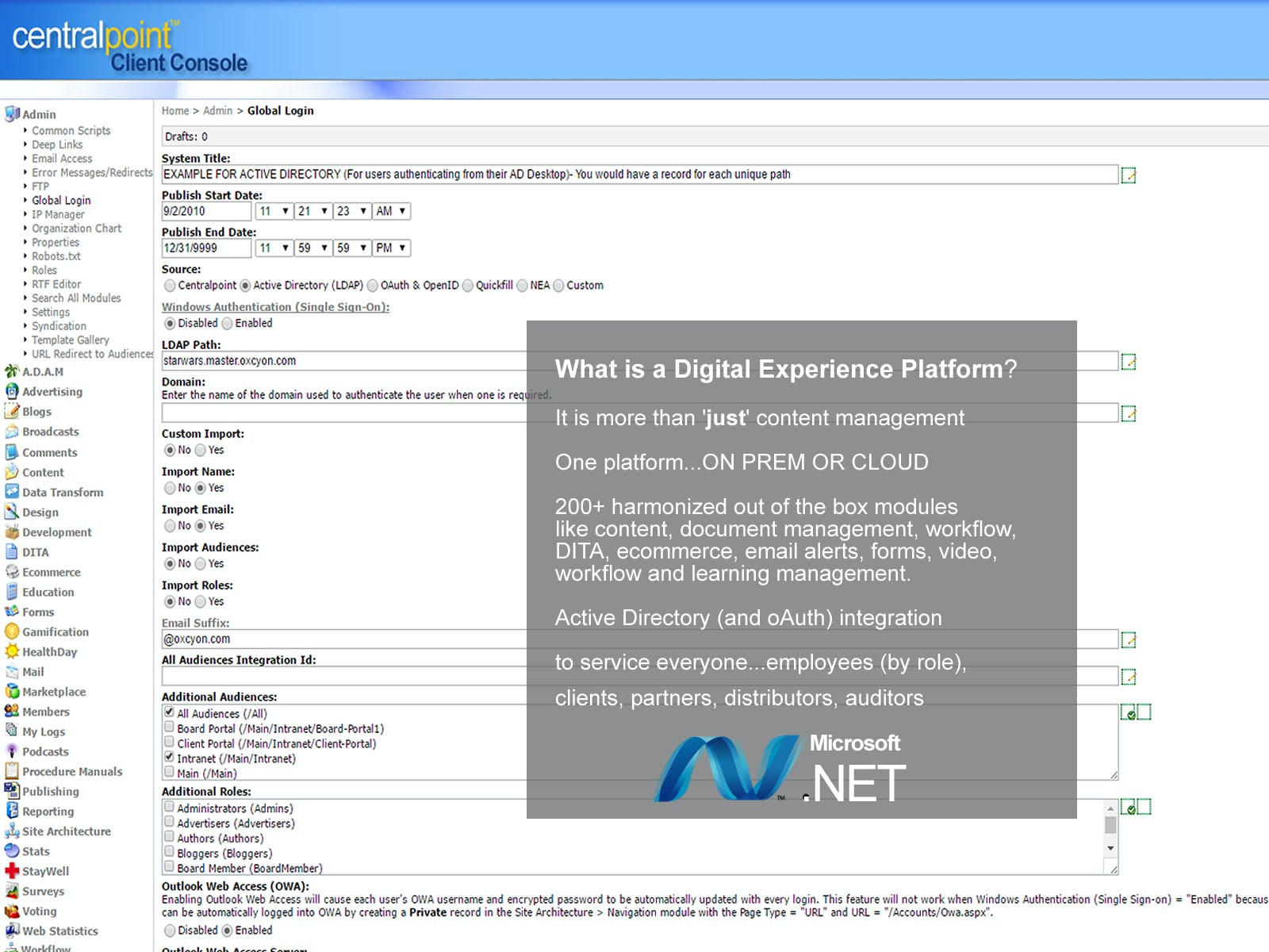 Centralpoint Software - Digital experience platform overview