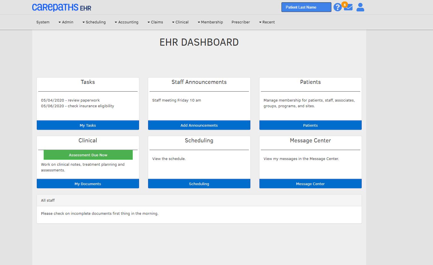 CarePaths EHR Software - 1