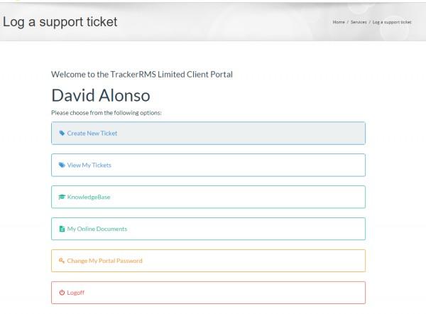 Customer support portal