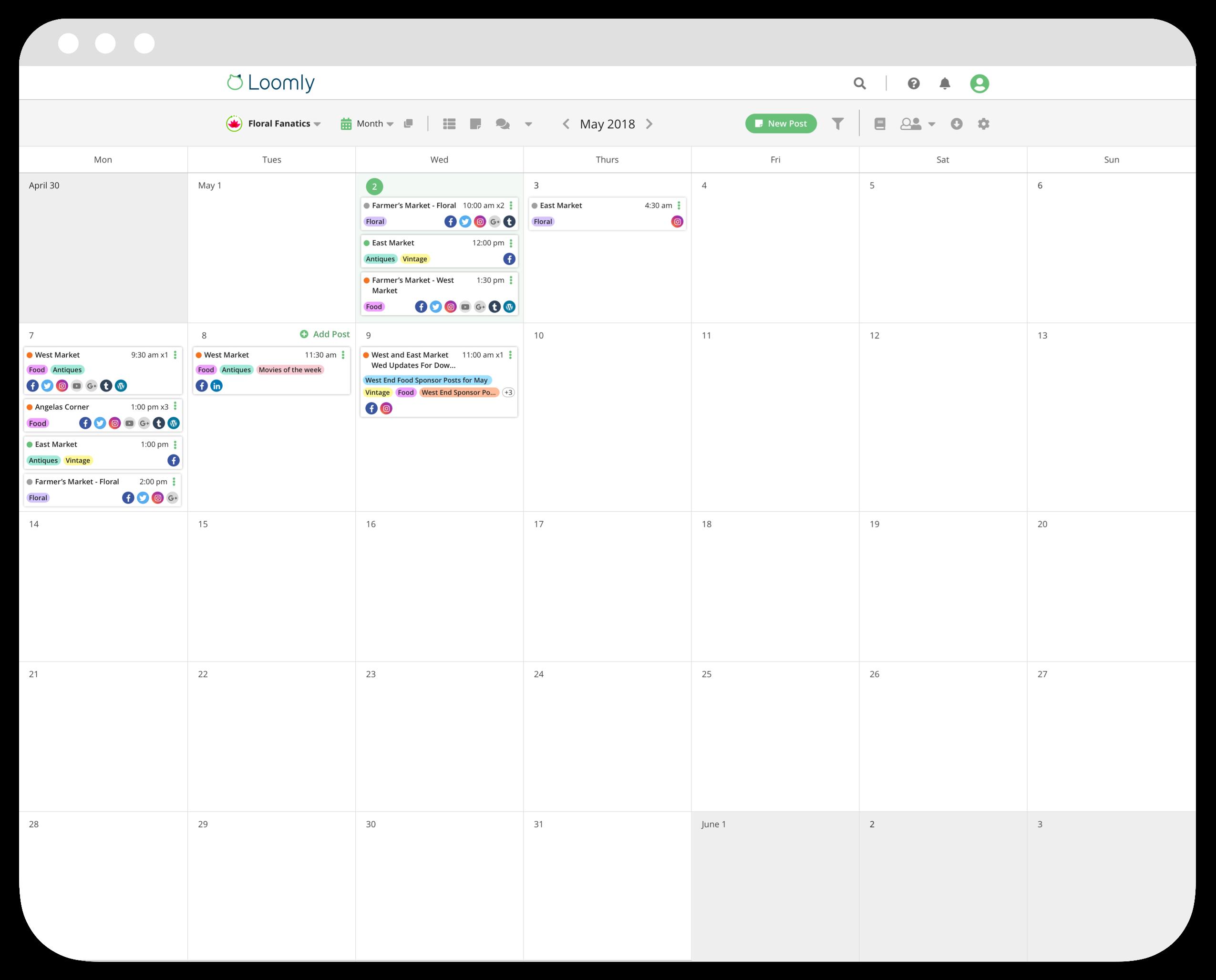 Loomly Software - Loomly Calendar