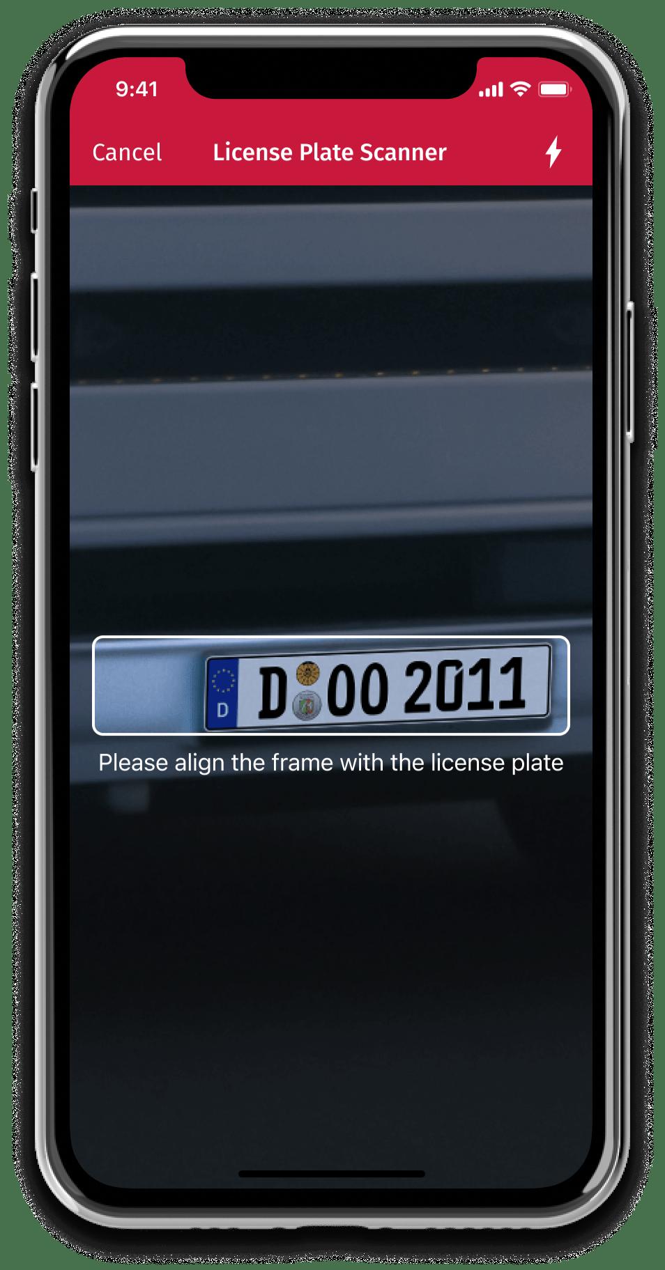 Scanbot SDK scan license plates