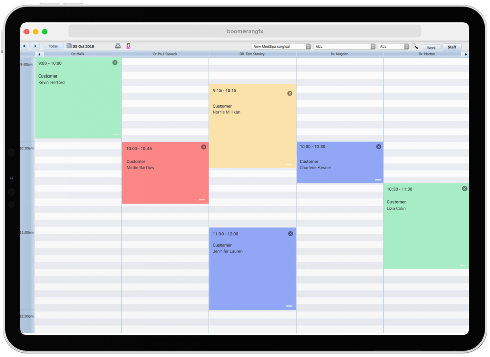 The calendar tool allows users to schedule appointments