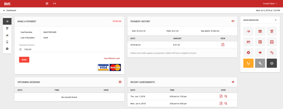 Create a branded customer portal to allow clients to make payments and track their payment history