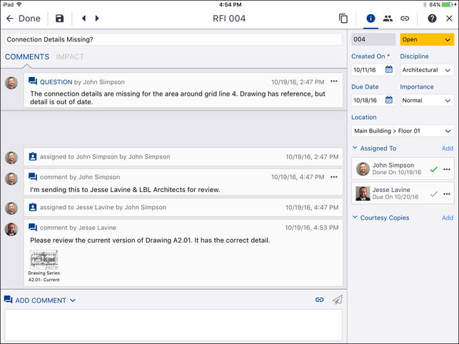 ProjectSight team communication