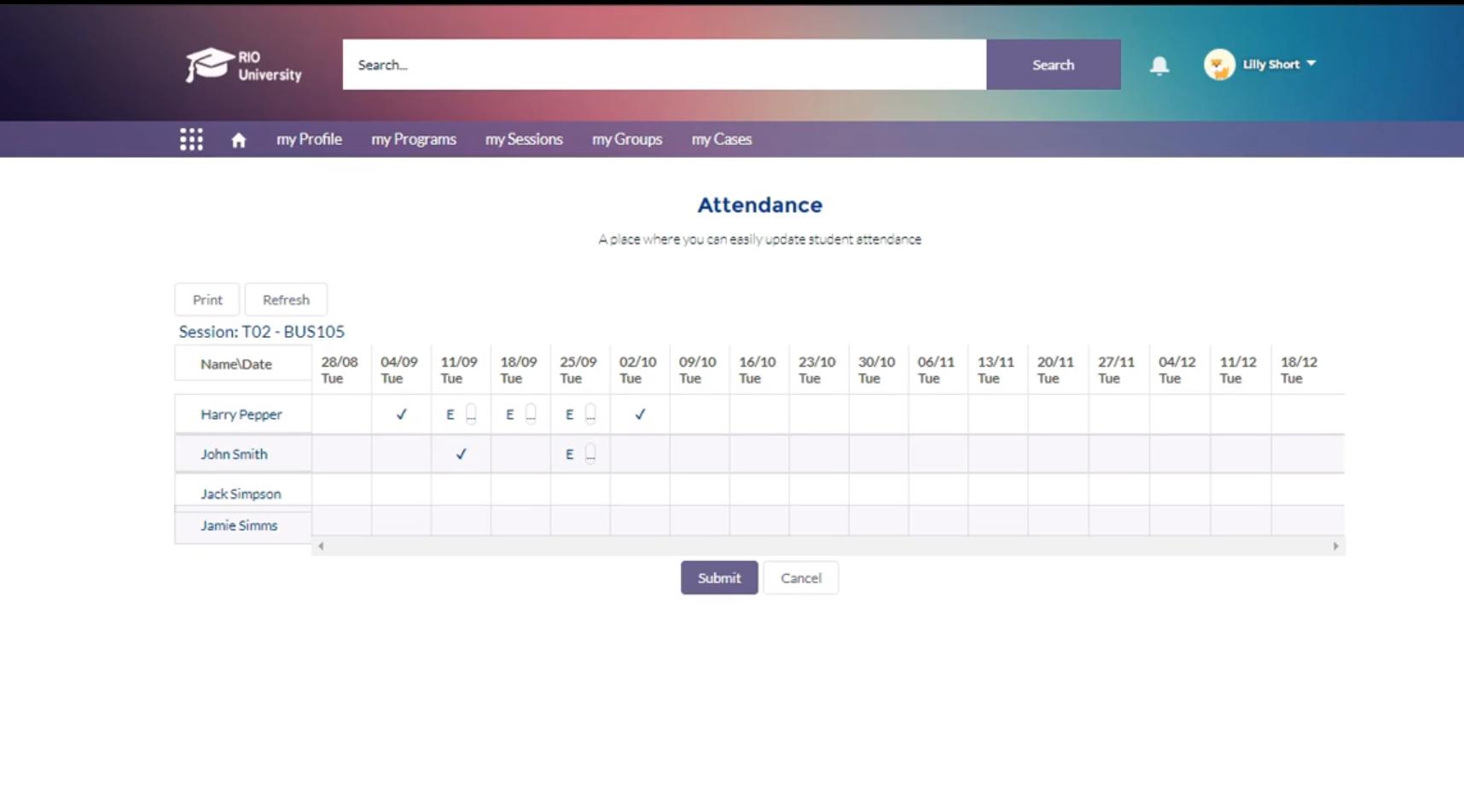 RIO Education attendance management