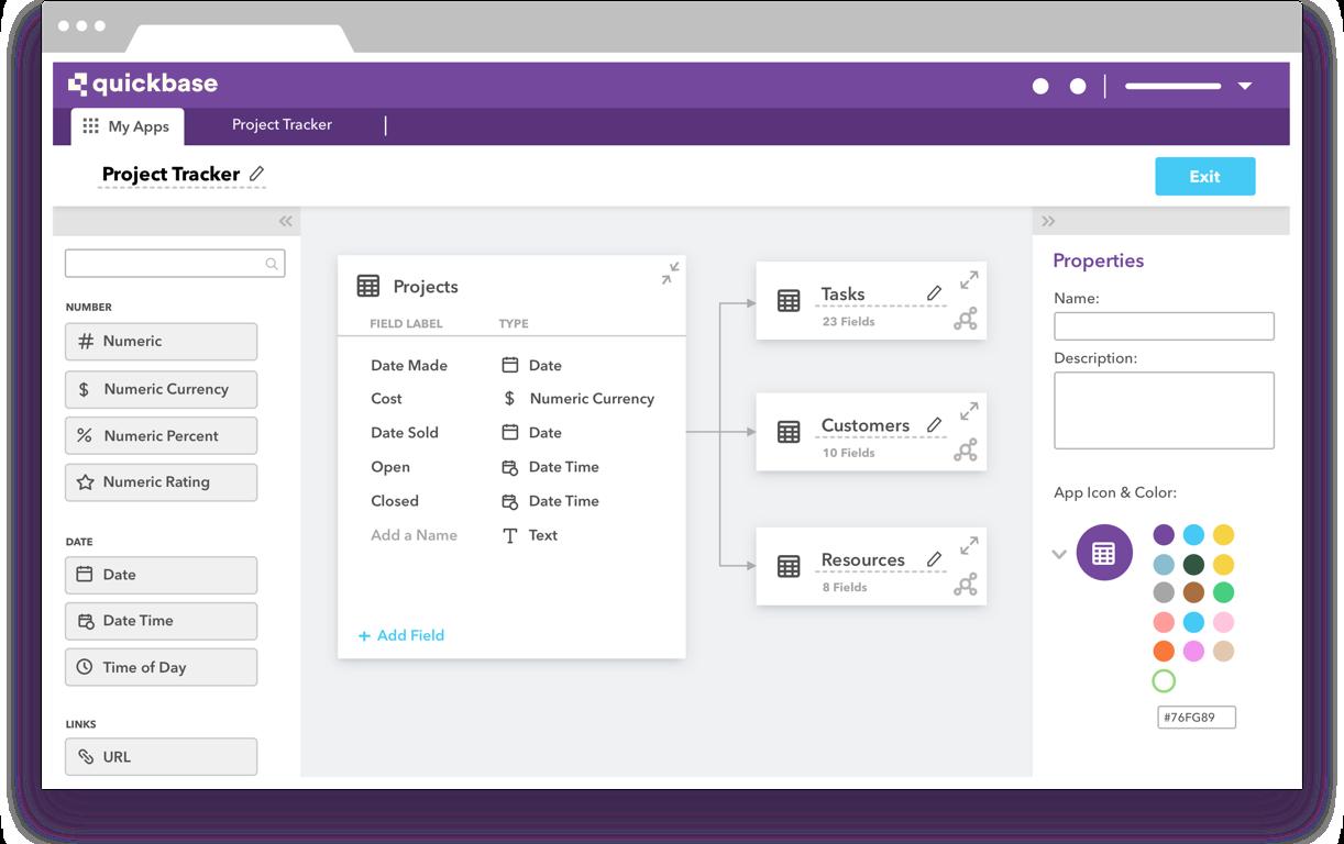 Quickbase screenshot: Visual Builder