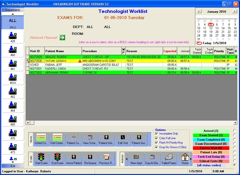 Technologist Worklist
