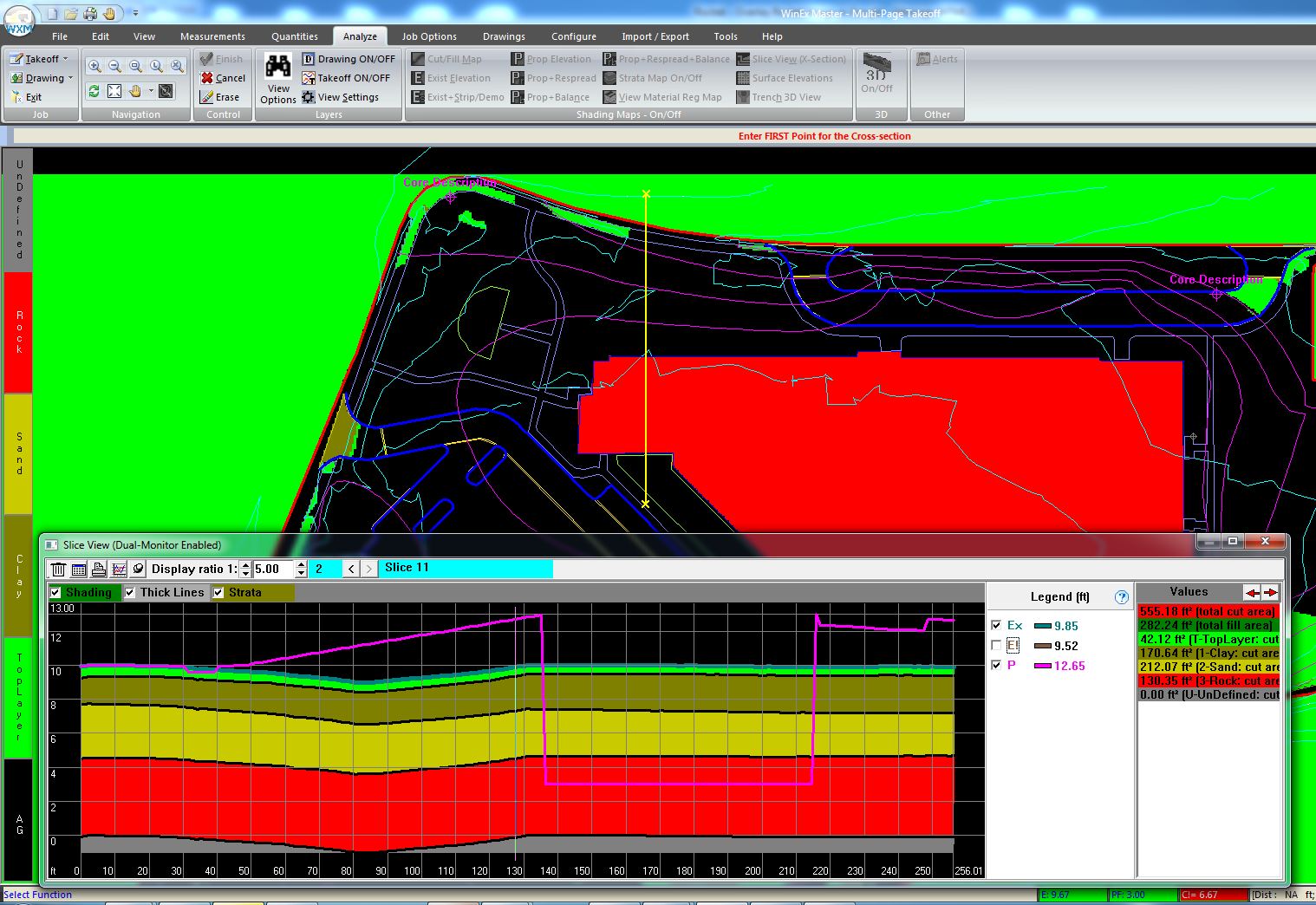 WinEx Software - Slice view