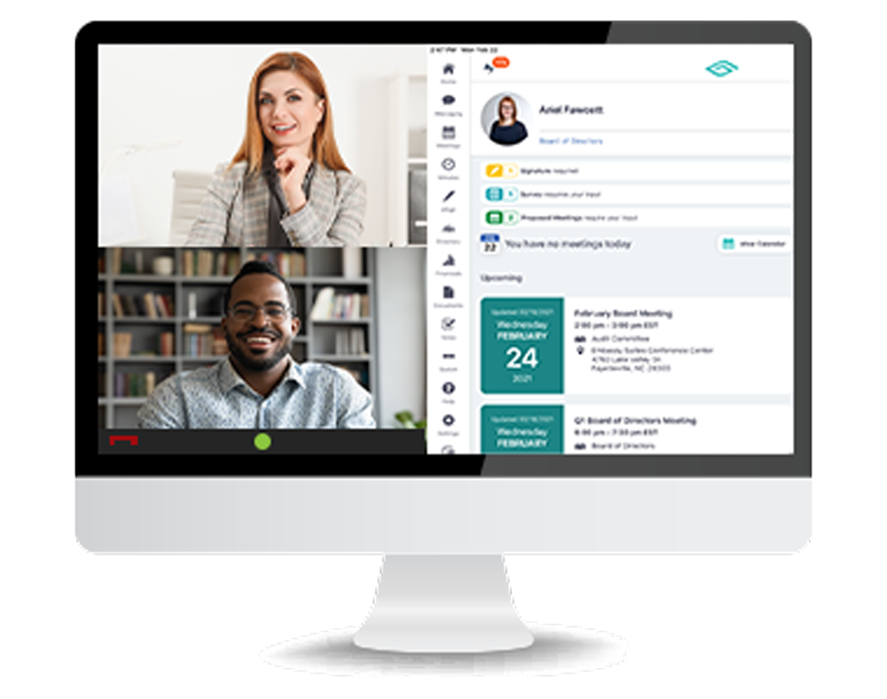 Govenda Software - Schedule and attend board meetings within the platform