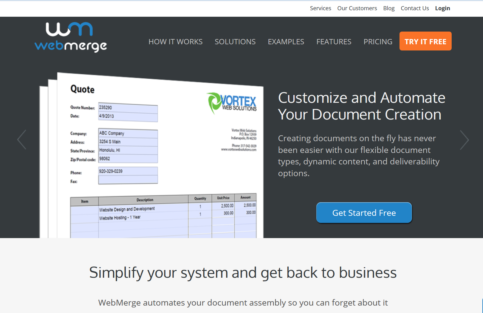 Formstack Documents provides cloud based document generation