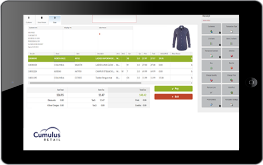 Retail purchasing platform on the cloud that can register on any tablet device