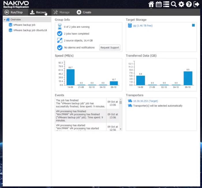 NAKIVO Backup & Replication cross-platform recovery