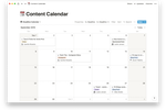Notion screenshot: Content Calendar