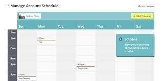 Account schedule