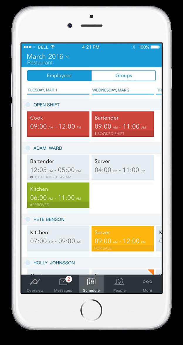 App: Check upcoming shifts