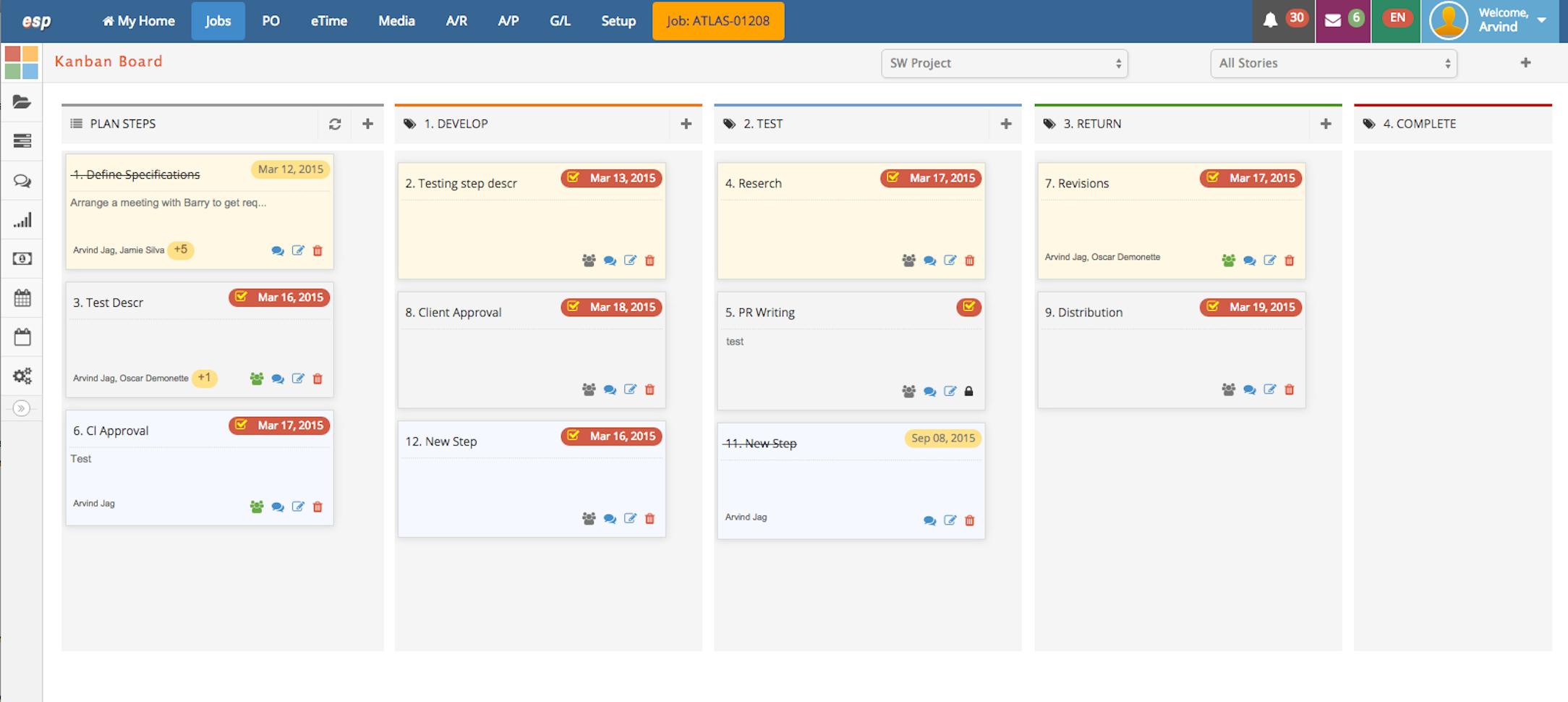 eSilentPARTNER Software - Project Management Kanban Boards