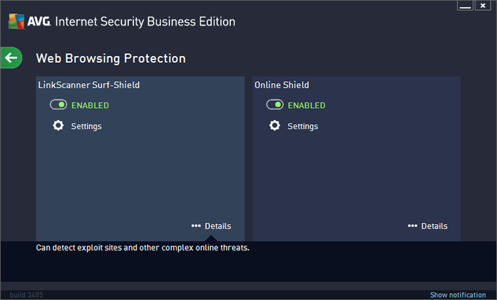 AVG Internet Security Business Edition Software - Web browsing protection
