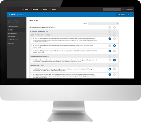 VelocityEHS enables users to create audit checklist templates, and tailor these to suit specific locations