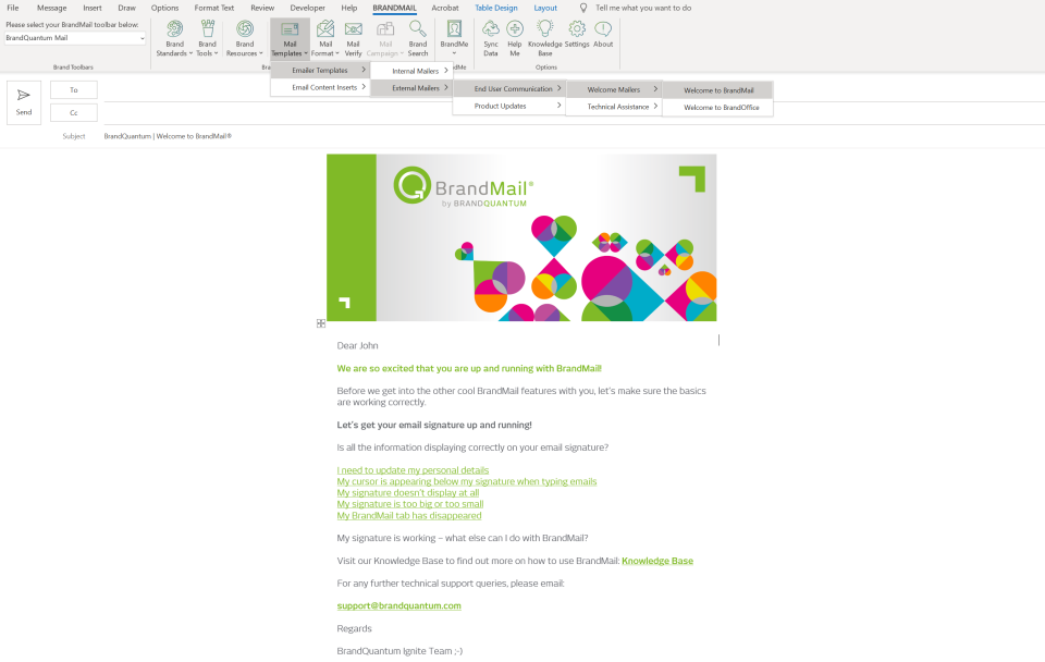 BrandMail template