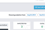 Sniply screenshot: Track the number of snips created, and clicks made from the activity dashboard