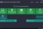 Captura de tela do AVG Antivirus Business Edition: AVG Business Edition's control panel
