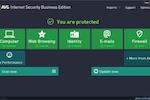 AVG Antivirus Business Edition screenshot: AVG Business Edition's control panel