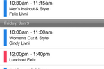 Schedulista screenshot: View upcoming appointments by day, week or month