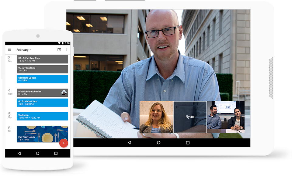 Turn meetings into video conferences from any camera-enabled device