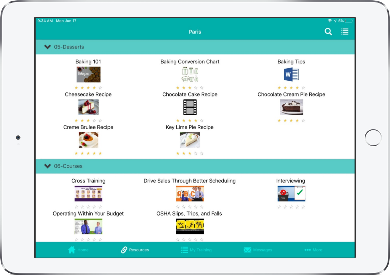 DiscoverLink Talent LMS Software - Mobile App