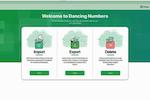 Dancing Numbers screenshot: Dancing Numbers dashboard