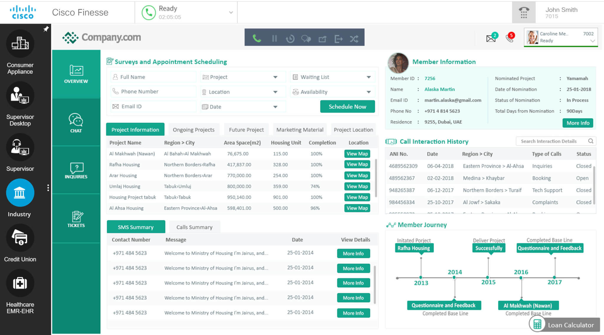 Unified Agent Desktop from Novelvox