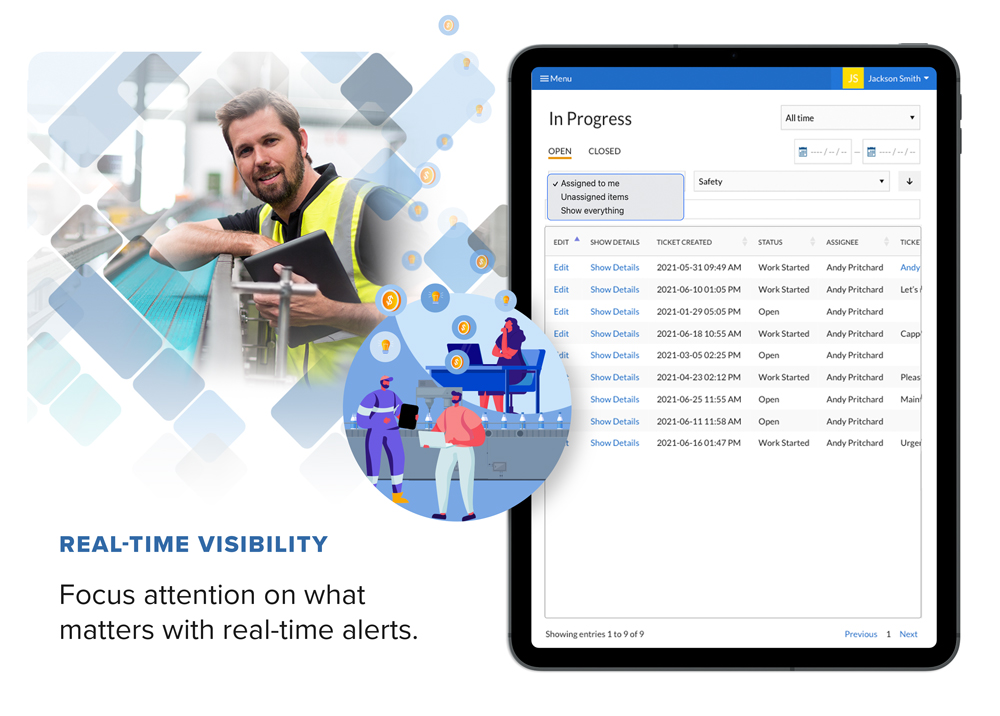 Real-time Visibility - Monitor what matters and receive alerts instantly if something requires your attention.
