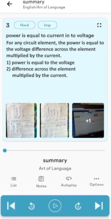 Pocket Study lesson summary