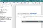 ProWritingAid screenshot: ProWritingAid thesaurus and report summary