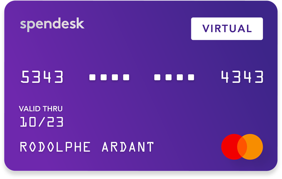 Spendesk virtual card
