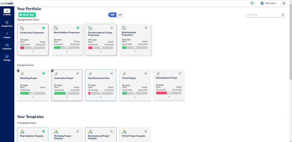 WorkSavi manage project portfolios