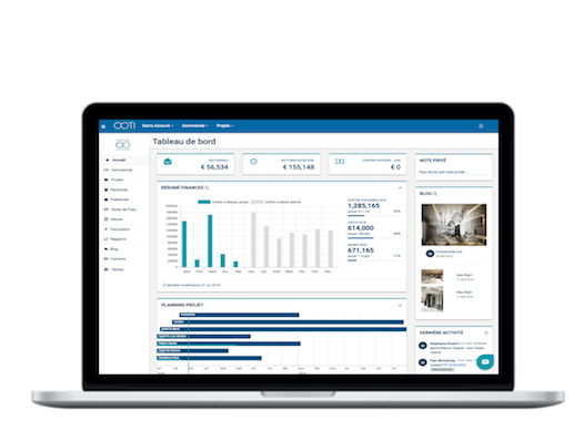 Use OOTI to manage the entire project process, from fee proposals to progress management to invoicing