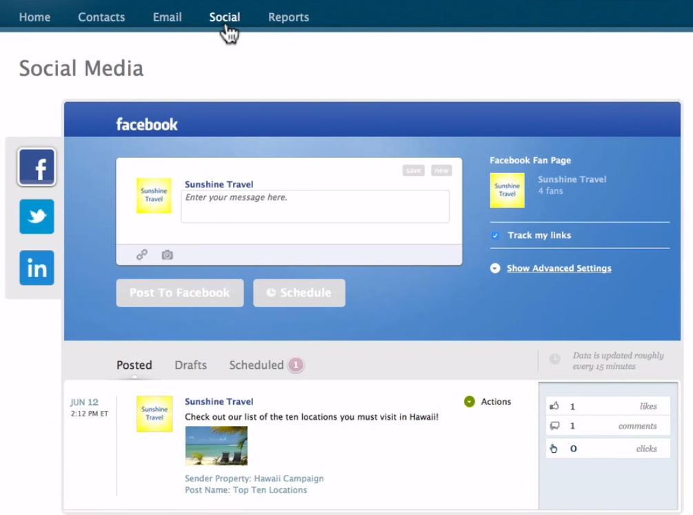 iContact Software - Social media posting