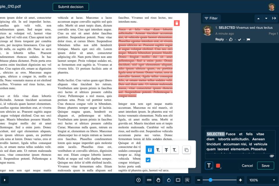 Ziflow document review