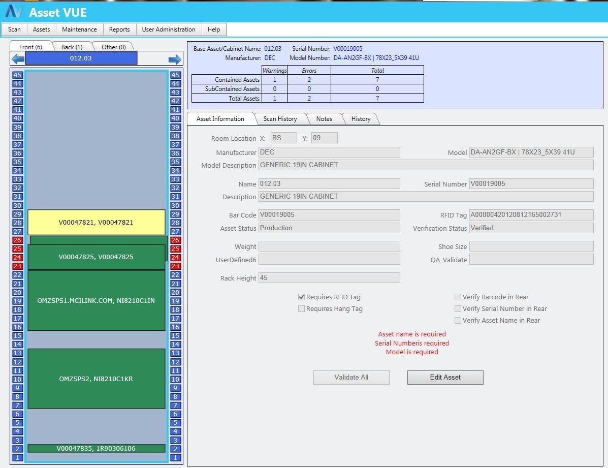 Asset Vue Inventory Software - Asset Vue Collision Management
