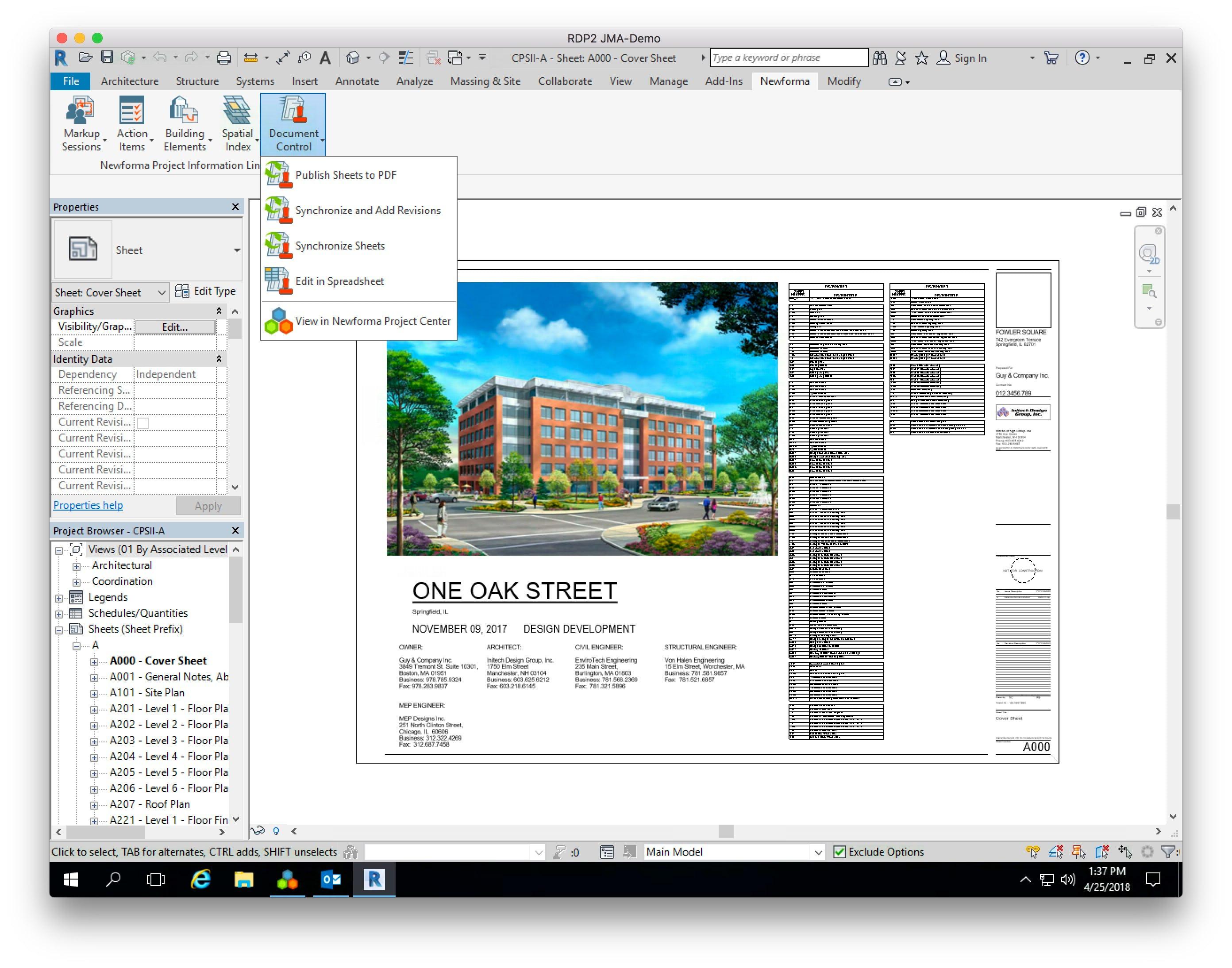 ConstructEx Software - Add-in Doc Control menu