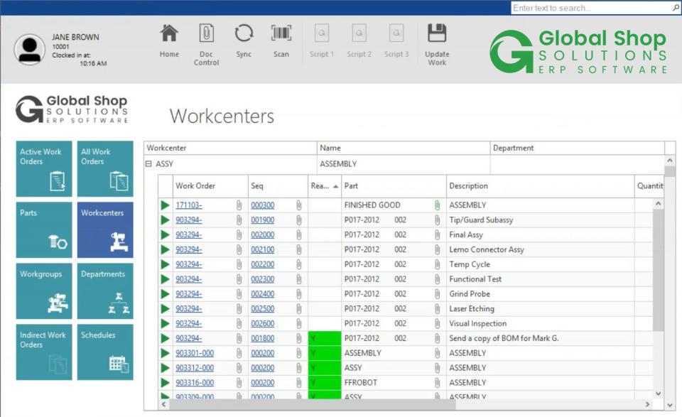 Global Shop Solutions Software - 3