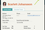 Filevine screenshot: The application lets users record contact details of stakeholders involved in the project